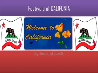 Festivals of CALIFONIA