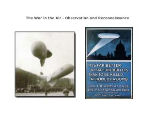 The War in the Air - Observation and Reconnaissance