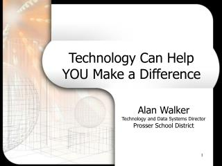 Technology Can Help YOU Make a Difference