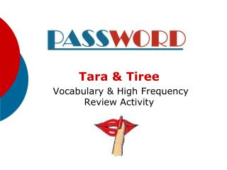 Tara & Tiree  Vocabulary & High Frequency Review Activity