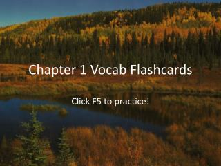 Chapter 1 Vocab Flashcards