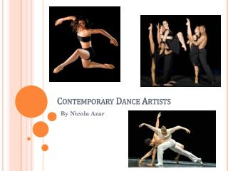 Contemporary Dance Artists