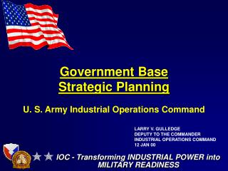 Government Base Strategic Planning