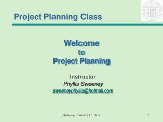 Welcome to Project Planning