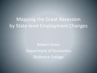 Mapping the Great Recession by State-level Employment Changes