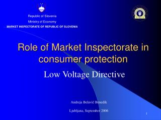 Role of Market Inspectorate in consumer protection
