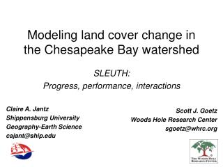 Modeling land cover change in the Chesapeake Bay watershed