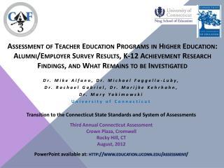 Dr. Mike Alfano, Dr. Michael  Faggella-Luby ,  Dr .  Rachael  Gabriel, Dr. Marijke Kehrhahn,