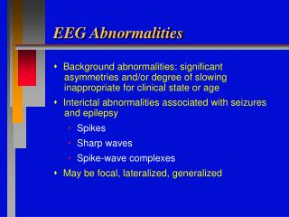 EEG Abnormalities