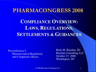 PHARMACONGRESS 2008