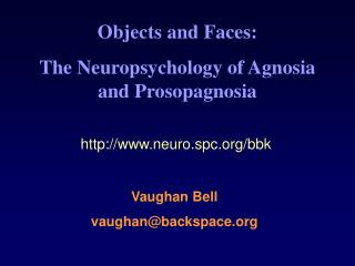 Objects and Faces: The Neuropsychology of Agnosia and Prosopagnosia