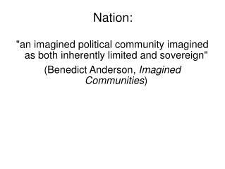 Nation: