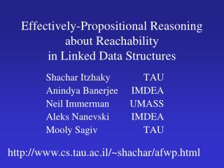 Effectively-Propositional Reasoning about Reachability in Linked Data Structures