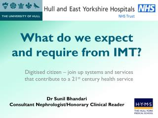 What do we expect and require from IMT?