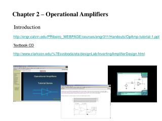 Chapter 2 – Operational Amplifiers