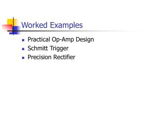 Worked Examples