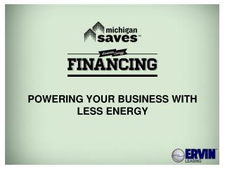 Powering your Business with Less Energy