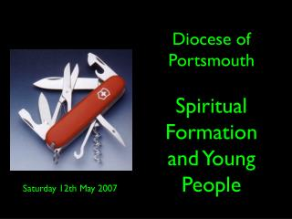 Diocese of Portsmouth Spiritual Formation and Young People