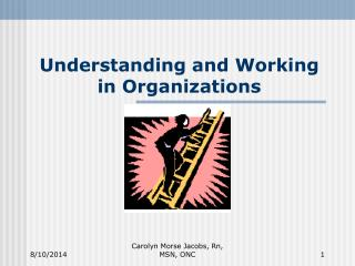 Understanding and Working in Organizations
