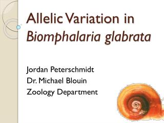 Allelic Variation in  Biomphalaria glabrata