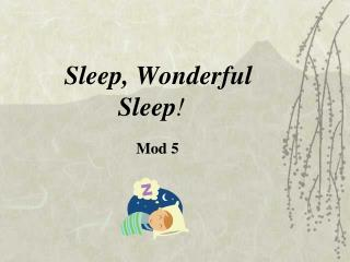 Sleep, Wonderful Sleep !