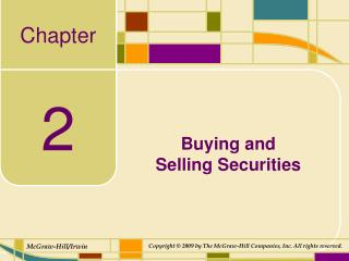 Buying and  Selling Securities