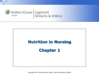 Nutrition in Nursing Chapter 1