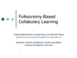 Folksonomy-Based Collabulary Learning