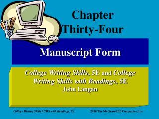 Manuscript Form