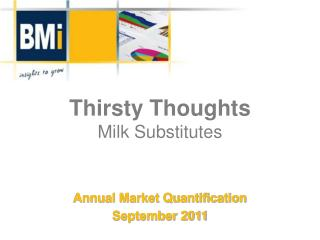 Thirsty Thoughts Milk Substitutes