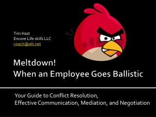 Meltdown! When an Employee Goes Ballistic