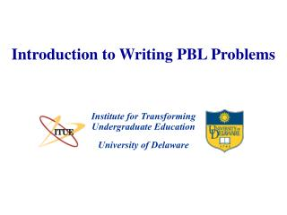 Introduction to Writing PBL Problems