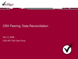 CRX Peering: Data Reconciliation