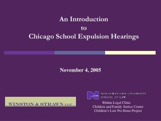 An Introduction  to Chicago School Expulsion Hearings