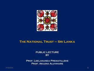 The National Trust – Sri Lanka