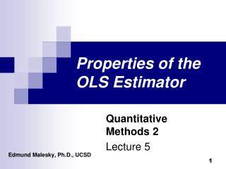 Properties of the OLS Estimator