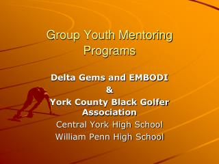 Group Youth Mentoring Programs