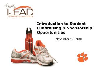 Introduction to Student Fundraising & Sponsorship Opportunities