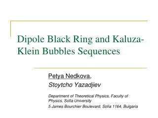 Dipole Black Ring and Kaluza-Klein Bubbles Sequences
