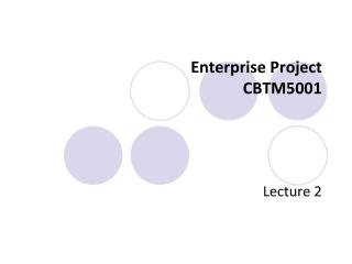 Enterprise Project CBTM5001