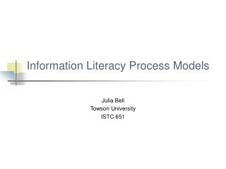 Information Literacy Process Models