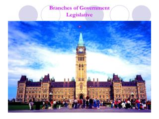 Branches of Government  Legislative