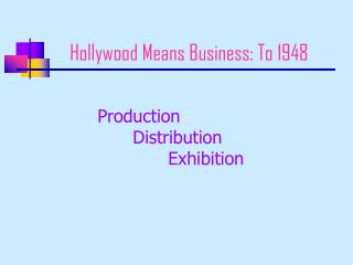 Hollywood Means Business: To 1948