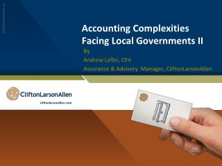Accounting Complexities Facing Local Governments II
