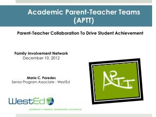 Academic  Parent-Teacher Teams (APTT)