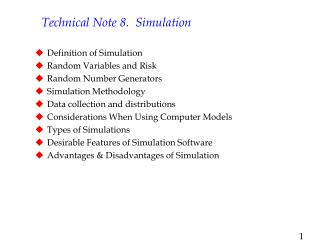 Technical Note 8.  Simulation