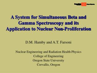 D.M. Hamby and A.T. Farsoni Nuclear Engineering and Radiation Health Physics