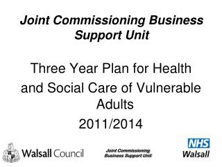 Joint Commissioning Business Support Unit