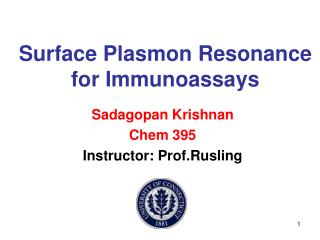 Surface Plasmon Resonance for Immunoassays