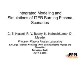 Integrated Modeling and  Simulations of ITER Burning Plasma Scenarios